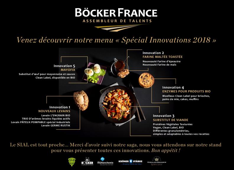 BÖCKER FRANCE SIAL : notre menu complet est servi !