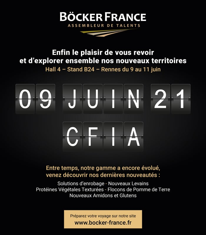 CFIA - Böcker France y sera présent et a hâte de vous revoir !